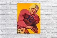 Vintage Football Poster_Football Prints Wall Art Posters  Acrylic Print