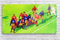 Vintage Football Art Sunny Day Gridiron Artwork  Acrylic Print