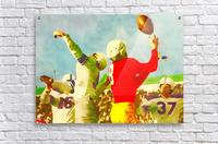 Vintage Football Print_Touchdown Catch Artwork  Acrylic Print
