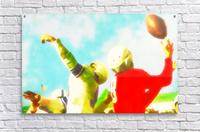 Vintage Football Print_Touchdown Catch Art Print  Acrylic Print