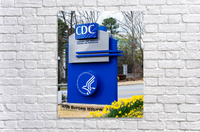 Centers for Disease Control CDC Sign   Atlanta GA 02775  Acrylic Print