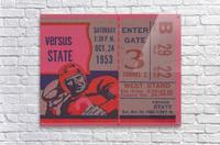 Vintage Football Ticket Stub Art   Acrylic Print