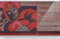 Vintage Football Art_Ticket Stub Reproduction Prints  Acrylic Print