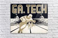 Vintage Georgia Tech Football Art_College Football Fine Art Print  Acrylic Print