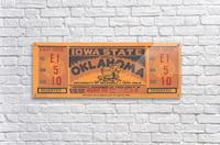 1934 Iowa State vs. Oklahoma  Acrylic Print