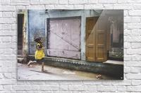 Varanasi Window - The girl  Impression acrylique