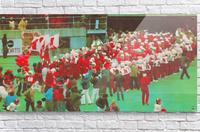 nebraska football art vintage college poster  Acrylic Print