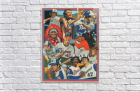 atlanta braves poster vintage baseball retro sports art reproduction  Acrylic Print