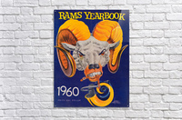 1960 nfl los angeles rams yearbook cover art price one dollar karl hubenthal  Acrylic Print