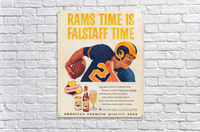 vintage falstaff beer ad la rams poster retro ads reproduction art  Acrylic Print