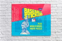vintage fleer mlb baseball sticker package art design reproduction art  Acrylic Print