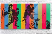vintage hockey art colorful sports art poster  Acrylic Print