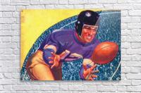 vintage football posters retro sports art print  Acrylic Print