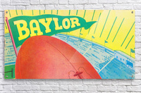Baylor Bears Football Pennant Poster (1935)  Acrylic Print