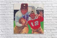 Vintage Football Framed Program Cover Art Posters (1937)  Acrylic Print