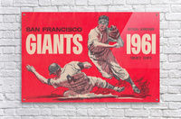 1961 San Francisco Giants Scorecard_Bay Area Home Decor Ideas  Acrylic Print