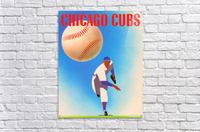 Otis Shepard Remix_Public Domain Sports Art Remixes_Chicago Cubs Poster by Row One  Acrylic Print