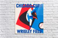 Retro_Remix_Sports_Program_Scorecard_Posters_Row_One_Chicago_Cubs  Acrylic Print