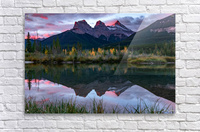 Three Sisters Fall Sunrise Canmore  Acrylic Print