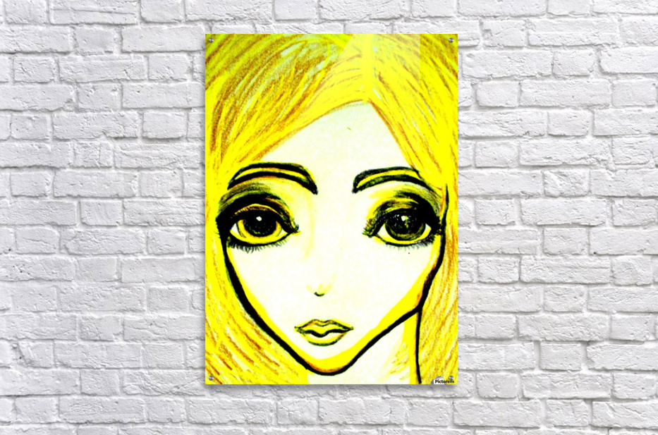 yellowgirl1  Acrylic Print
