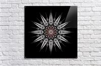 Garnet Reactor Mandala  Acrylic Print