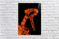 Burning on Fire Letter R  Acrylic Print
