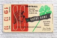 1953 USC vs. Notre Dame  Acrylic Print