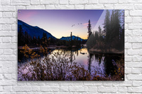 As Ducks Fly Policemans Creek Canmore  Acrylic Print