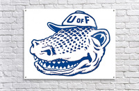 vintage florida gators wall art blue  Acrylic Print
