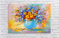 A bouquet of bright flowers  Acrylic Print
