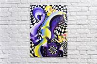 80s Geometric Abstract Watercolor  Acrylic Print