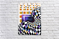Retro Minimalism Abstract Chess Pattern  Acrylic Print