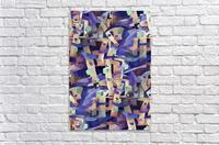 Seamless Geometric Vivid Abstract  Acrylic Print