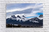 Three Sisters Mountain  Acrylic Print