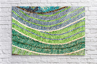 Tessellated Abstracts and Impressions - Free Form Meadows and Flowerbeds in Green and Blue  Acrylic Print