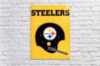 1968 Pittsburgh Steelers Helmet Art  Acrylic Print