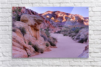 Sunrise over Valley of Fire Wash - Nevada  Acrylic Print
