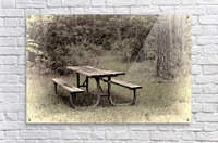 A_Lonely_Table  Acrylic Print