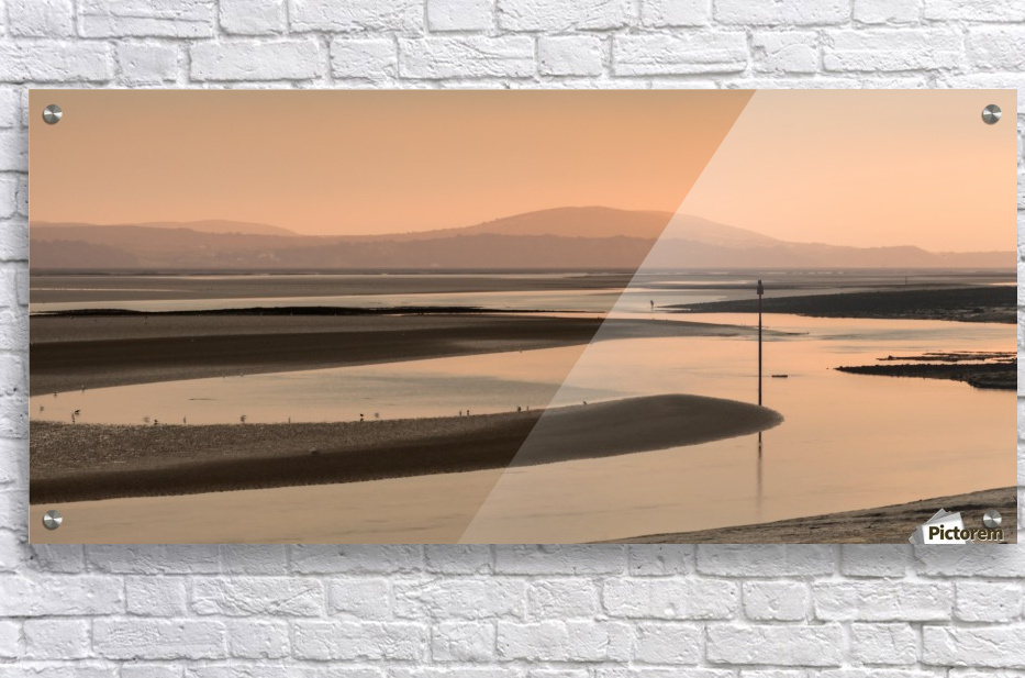Loughor estuary at dusk  Acrylic Print