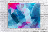 splash painting texture abstract background in blue pink  Acrylic Print