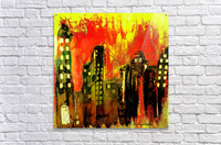 City on fire  Acrylic Print