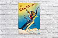 Skiing on Les Diablerets  Acrylic Print