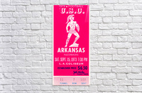 1973 usc trojans arkansas college football ticket stub art  Acrylic Print