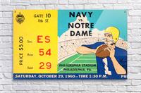 1960 navy notre dame ticket stub canvas  Acrylic Print