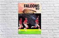 1980 retro nfl atlanta falcons poster  Acrylic Print
