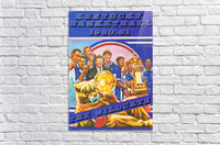 1980 kentucky wildcats basketball poster ted watts sports artist  Acrylic Print