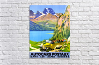 Swiss Alps by Car  Acrylic Print