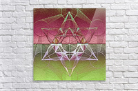 Cube of Metatron Red Green  Acrylic Print