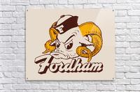 vintage fordham ram mascot college art  Acrylic Print