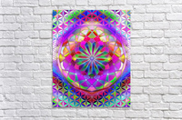 Crystal Flower Mandala  Acrylic Print